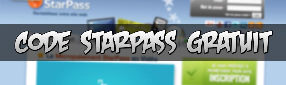 Générateur de code Starpass 2015 | Code Starpass Gratuit